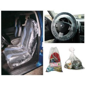 SEAT & STEERING WHEEL COVERS & LITTER BAGS