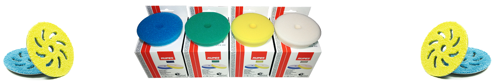 Rupes Foam, Mille and Microfiber Pads