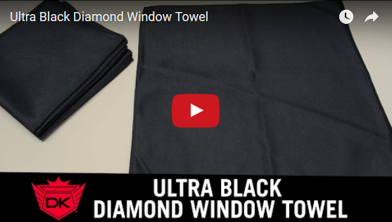 Ultra Black Diamond Window Towel