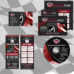 AUTO DETAILING FLYERS, BUSINESS CARDS, LOGOS & VIDEO PRODUCTION