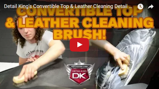 Detail King's Convertible Top & Leather Cleaning Detail Brush