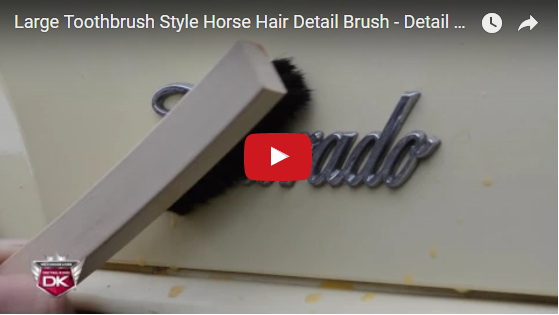 Large Toothbrush Style Horse Hair Detail Brush