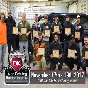 November 17th – 19th 2017  Craftsman Auto Reconditioning Seminar