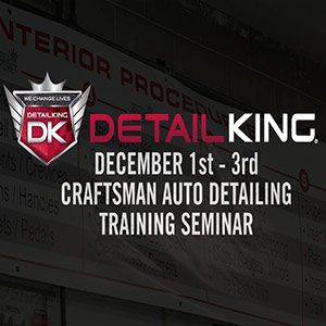 December 1st – 3rd 2017 Craftsman Auto Reconditioning Seminar