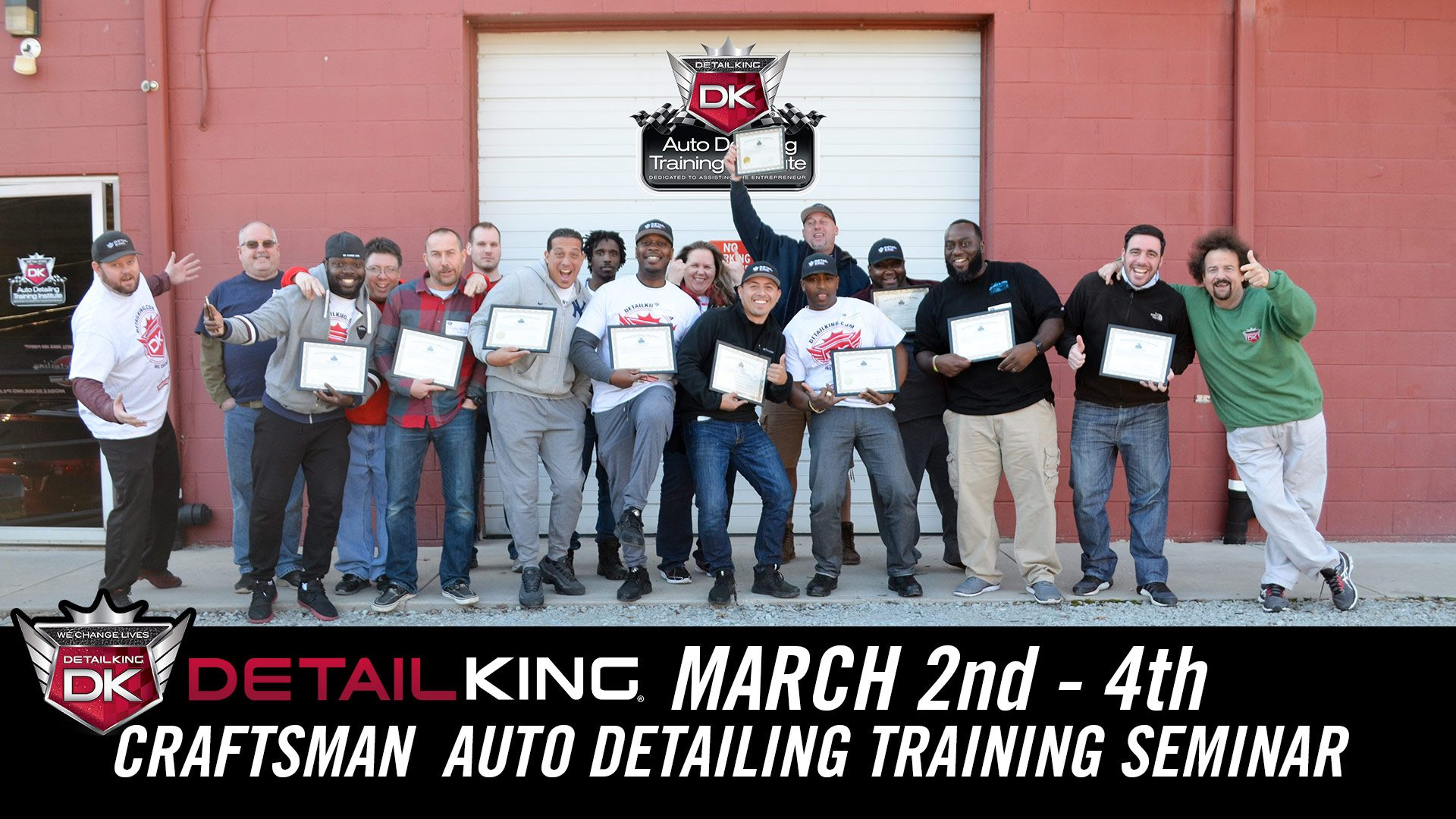 March 2nd – 4th 2018 Craftsman Detailing Training Class
