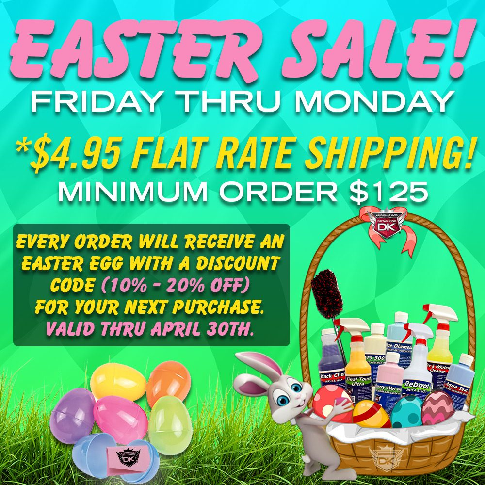 Detail King Easter Sale 2018 – $4.95 Flat Rate Shipping