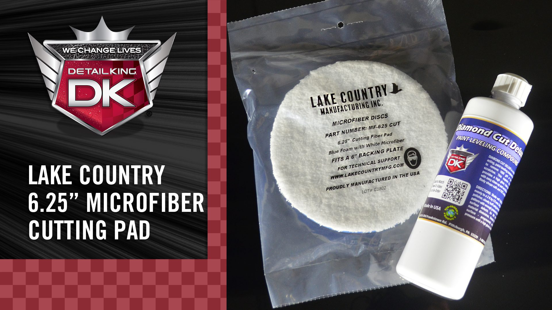 Lake Country Microfiber Buffing Pad – with Diamond Cut Deluxe