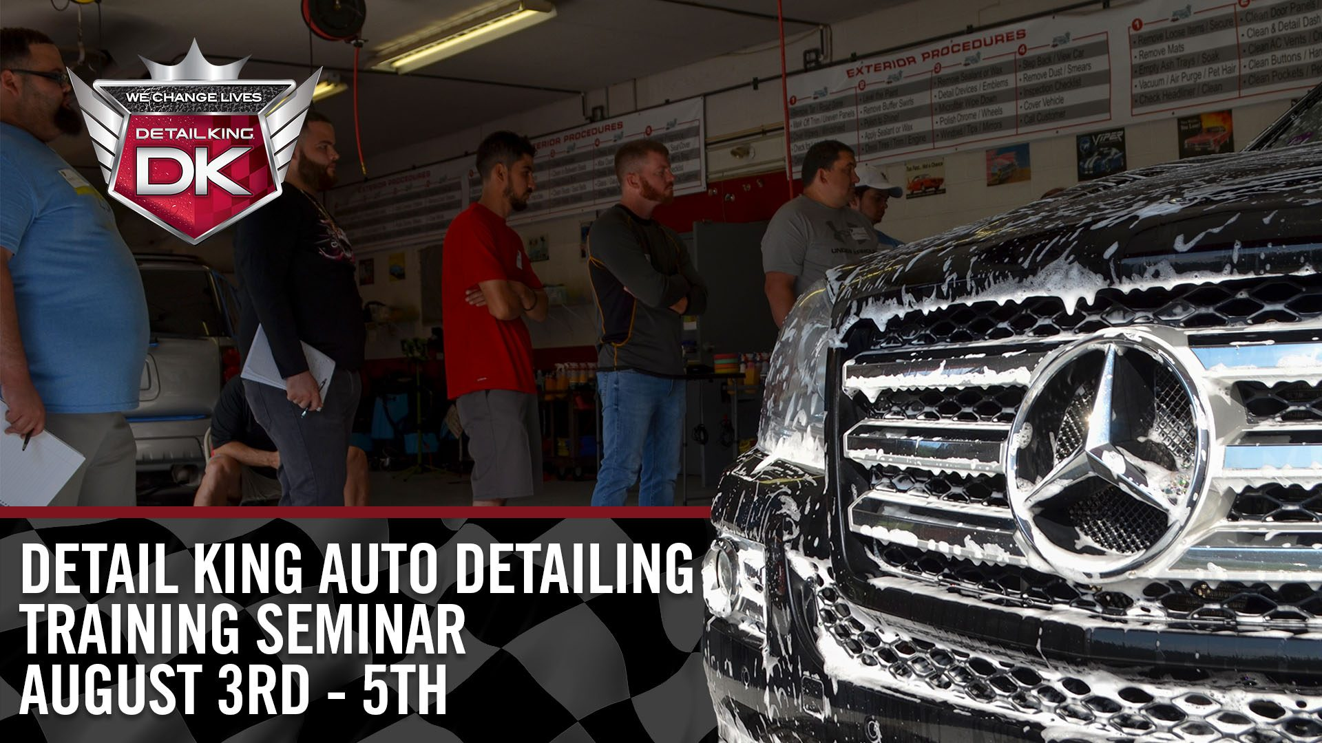 August 3rd – 5th 2018 Craftsman Auto Detailing Training Seminar