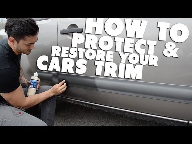 How to Protect and Dress Faded Plastic Car Trim