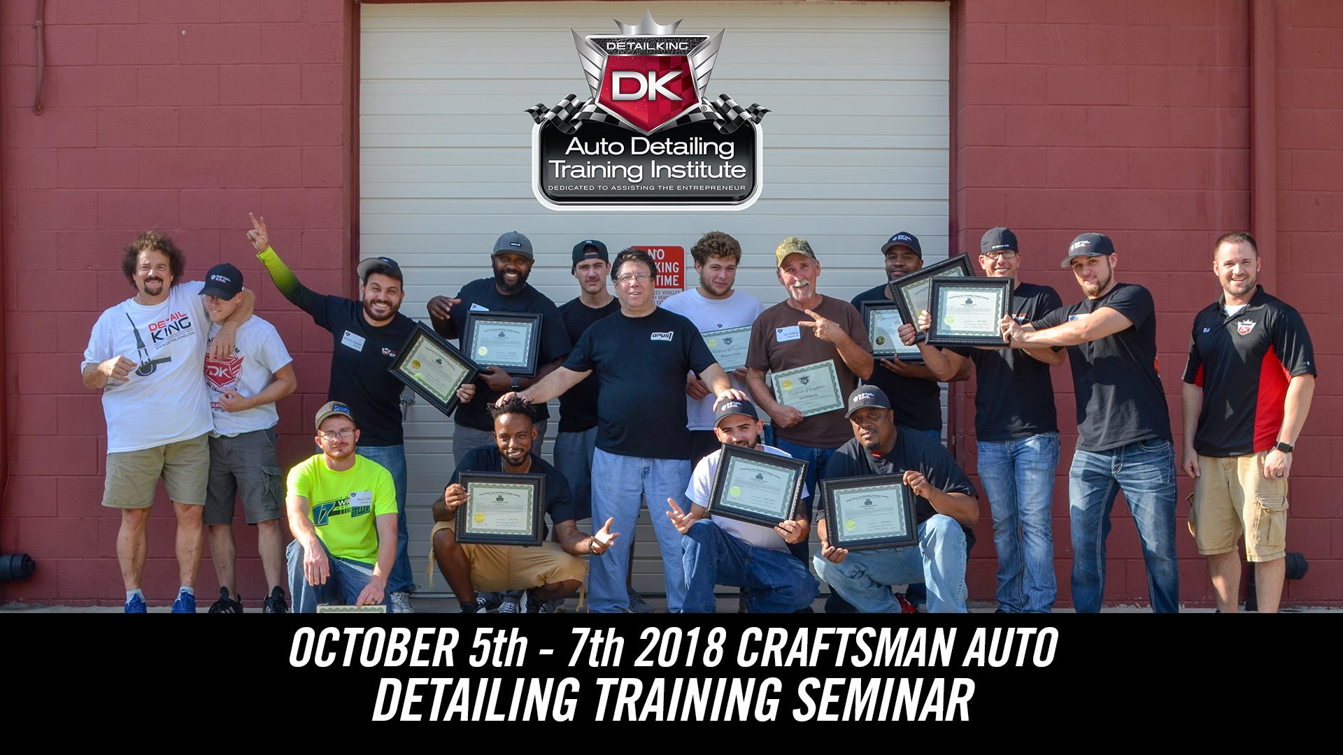 October 5th – 7th 2018 Craftsman Auto Detailing Training Seminar