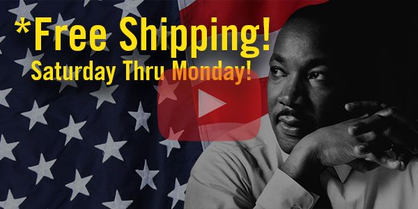 Martin Luther King Sale! – *Free Shipping on MOST DK Products – 1/19/19 thru 1/21/19