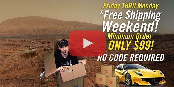 *Free Shipping Weekend is BACK!