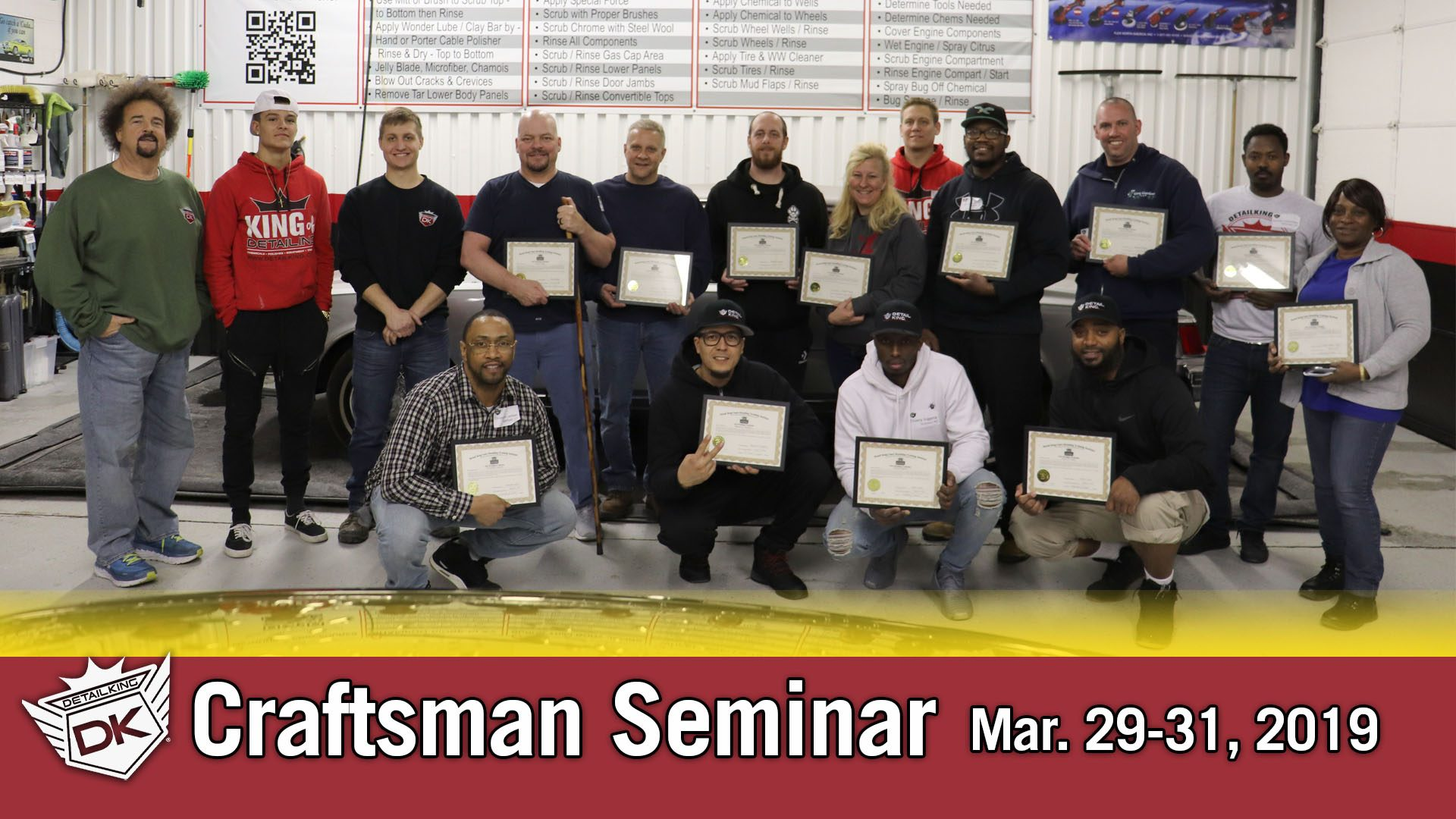 March 29th – 31st 2019 Craftsman Auto Detailing Training Seminar
