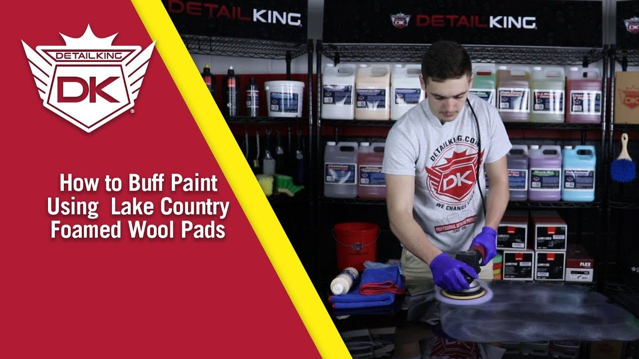 How To Buff Paint Using the Lake Country Foamed Wool Pads