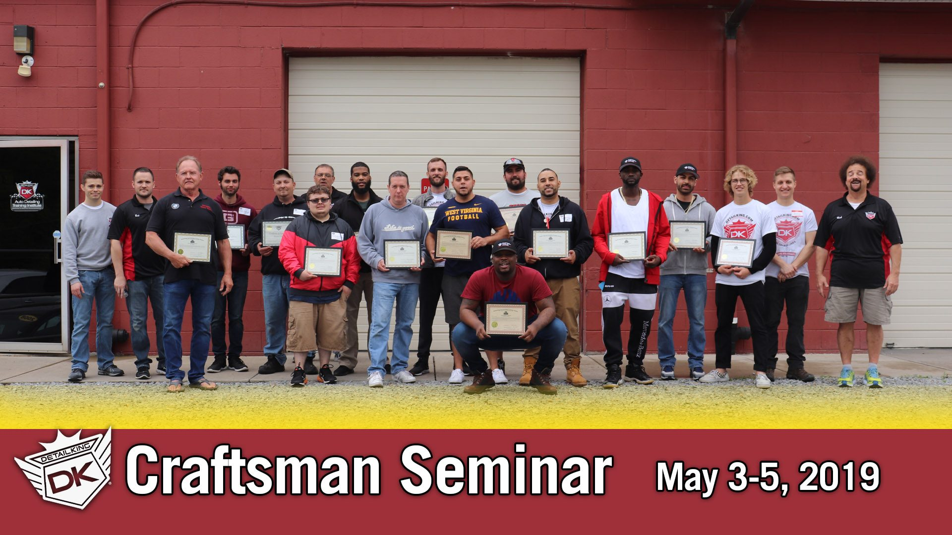 May 3rd – 5th 2019 Craftsman Auto Detailing Training Seminar