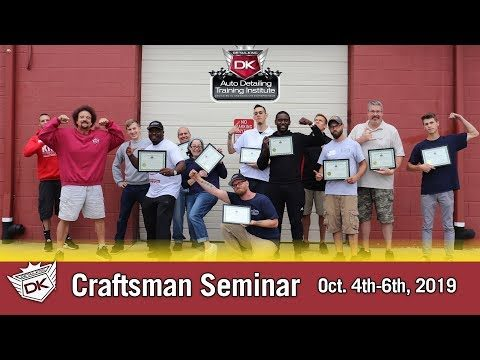 October 2019 Craftsman Seminar