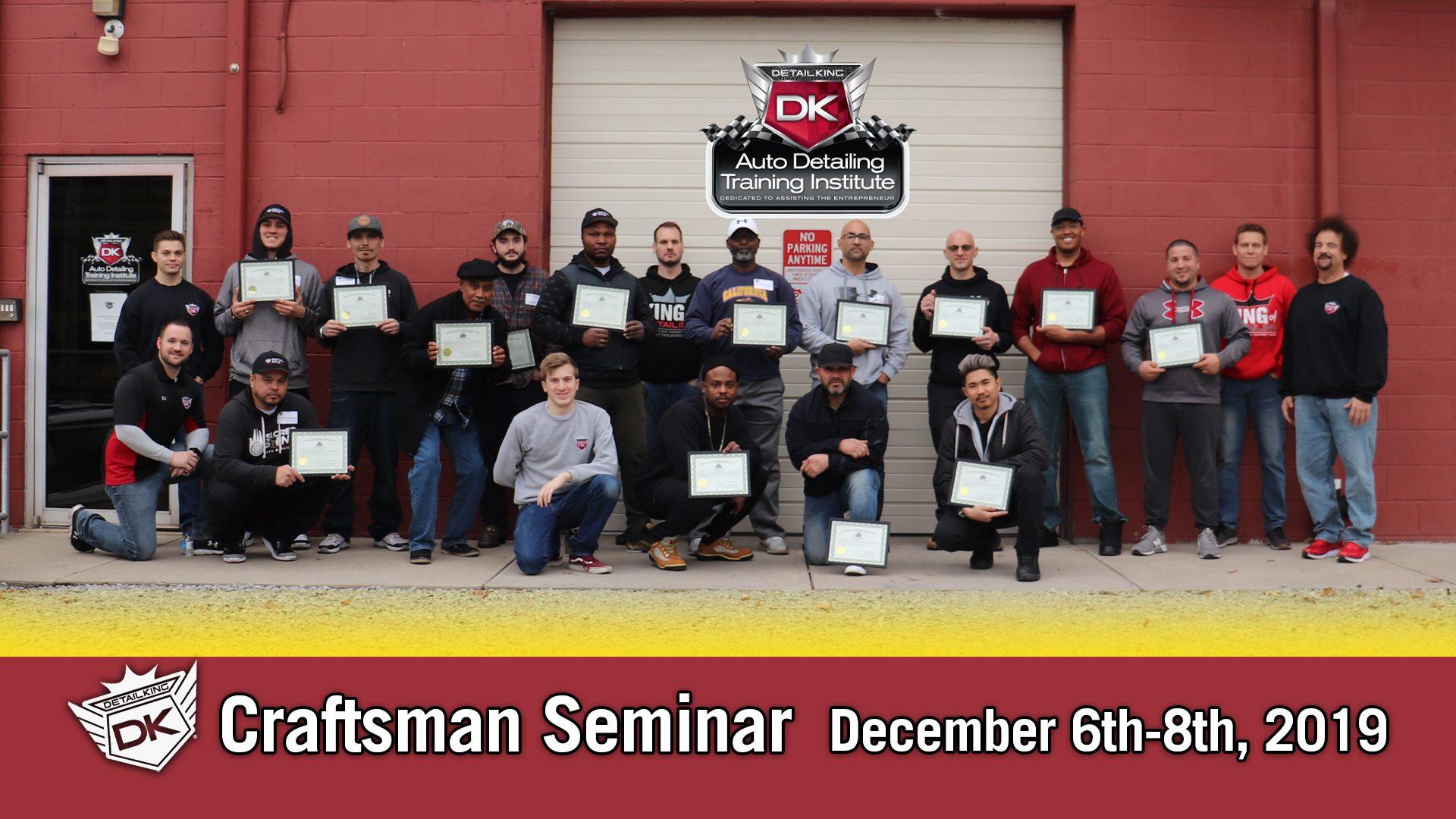 December 2019 Craftsman Seminar