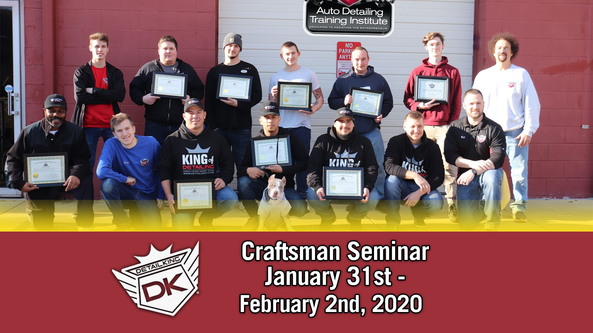 February 2nd 2020 Craftsman Seminar